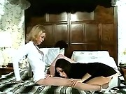 Cute young lesbian licks her roomie