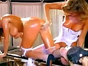 Lesbian nurses have fun w hot chick