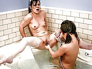naughty lesbian nurse takes a bath with sick college hotty
